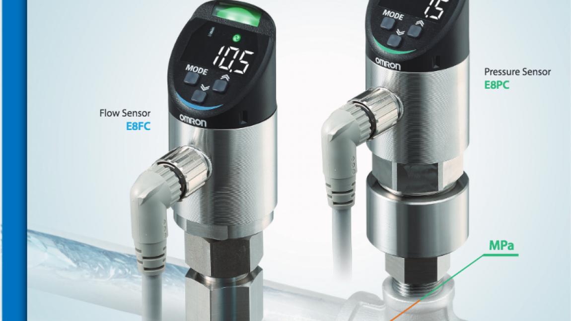 Nové IoT senzory pre kontrolu procesov – E8FC (prietok) a E8PC (tlak)