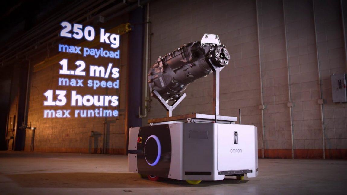 Nový mobilný robot OMRON LD-250 pre presun nákladov do 250 kg
