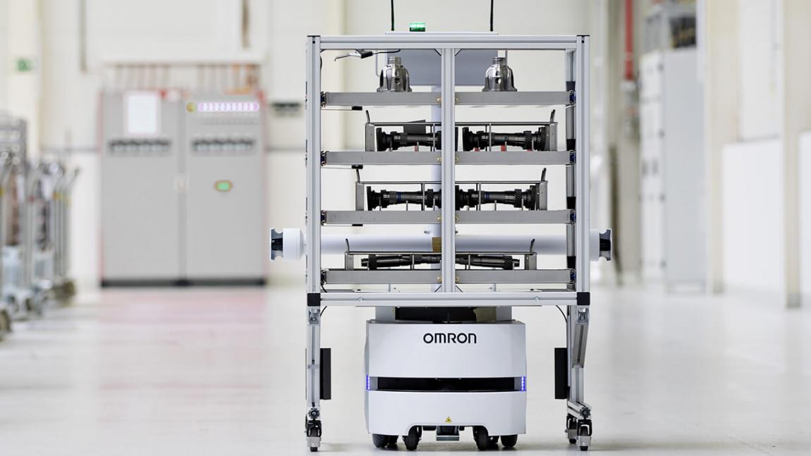 ŠKODA AUTO v závode vo Vrchlabí používa transportného robota OMRON LD