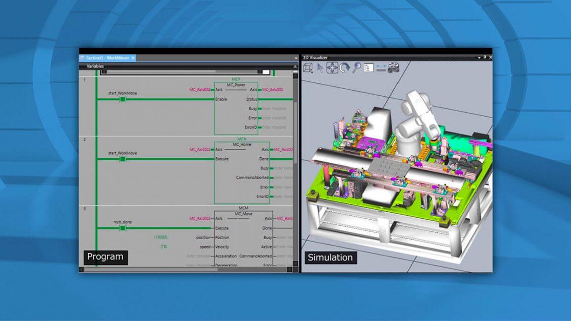 Sysmac Studio 3D Simulation zvyšuje produktivitu